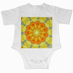 Sunshine Sunny Sun Abstract Yellow Infant Creepers