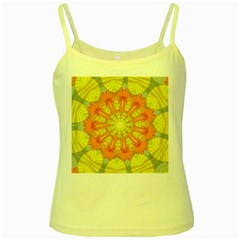 Sunshine Sunny Sun Abstract Yellow Yellow Spaghetti Tank