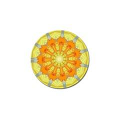 Sunshine Sunny Sun Abstract Yellow Golf Ball Marker