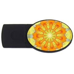 Sunshine Sunny Sun Abstract Yellow Usb Flash Drive Oval (2 Gb)