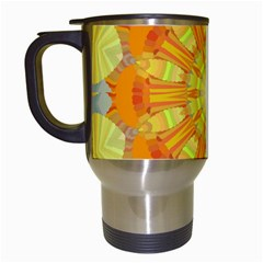 Sunshine Sunny Sun Abstract Yellow Travel Mugs (White)