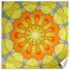 Sunshine Sunny Sun Abstract Yellow Canvas 16  x 16