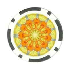 Sunshine Sunny Sun Abstract Yellow Poker Chip Card Guard