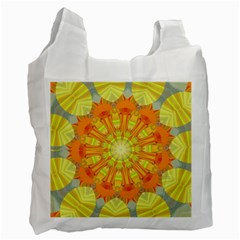 Sunshine Sunny Sun Abstract Yellow Recycle Bag (Two Side)