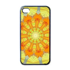 Sunshine Sunny Sun Abstract Yellow Apple Iphone 4 Case (black)