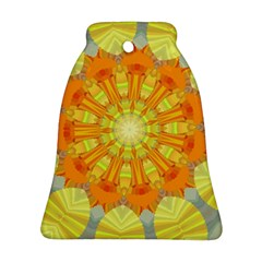 Sunshine Sunny Sun Abstract Yellow Bell Ornament (Two Sides)