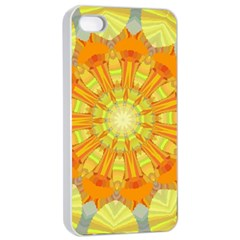 Sunshine Sunny Sun Abstract Yellow Apple iPhone 4/4s Seamless Case (White)