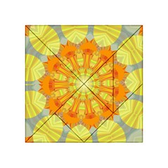 Sunshine Sunny Sun Abstract Yellow Acrylic Tangram Puzzle (4  x 4 )