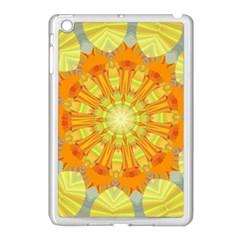 Sunshine Sunny Sun Abstract Yellow Apple iPad Mini Case (White)
