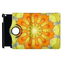 Sunshine Sunny Sun Abstract Yellow Apple iPad 2 Flip 360 Case