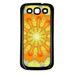 Sunshine Sunny Sun Abstract Yellow Samsung Galaxy S3 Back Case (Black)
