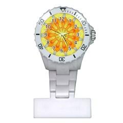 Sunshine Sunny Sun Abstract Yellow Plastic Nurses Watch