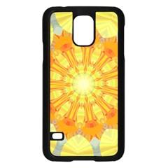 Sunshine Sunny Sun Abstract Yellow Samsung Galaxy S5 Case (Black)