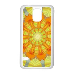 Sunshine Sunny Sun Abstract Yellow Samsung Galaxy S5 Case (White)