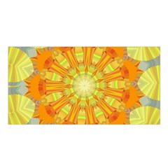 Sunshine Sunny Sun Abstract Yellow Satin Shawl