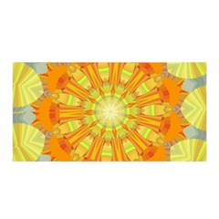Sunshine Sunny Sun Abstract Yellow Satin Wrap