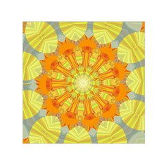 Sunshine Sunny Sun Abstract Yellow Small Satin Scarf (square)