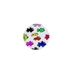 Fishes Marine Life Swimming Water 1  Mini Buttons