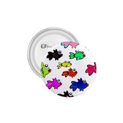 Fishes Marine Life Swimming Water 1.75  Buttons