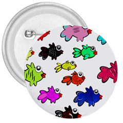 Fishes Marine Life Swimming Water 3  Buttons