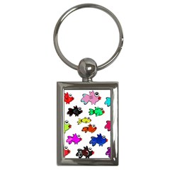 Fishes Marine Life Swimming Water Key Chains (rectangle)