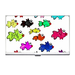 Fishes Marine Life Swimming Water Business Card Holders