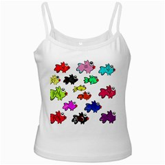 Fishes Marine Life Swimming Water Ladies Camisoles