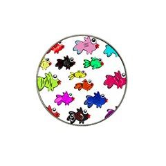 Fishes Marine Life Swimming Water Hat Clip Ball Marker (4 pack)