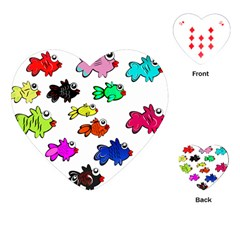 Fishes Marine Life Swimming Water Playing Cards (Heart)