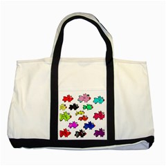 Fishes Marine Life Swimming Water Two Tone Tote Bag