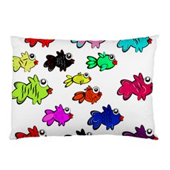 Fishes Marine Life Swimming Water Pillow Case