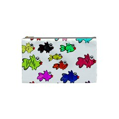 Fishes Marine Life Swimming Water Cosmetic Bag (small)