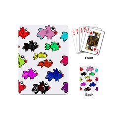 Fishes Marine Life Swimming Water Playing Cards (mini)