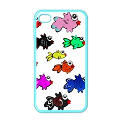 Fishes Marine Life Swimming Water Apple iPhone 4 Case (Color)