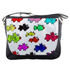 Fishes Marine Life Swimming Water Messenger Bags