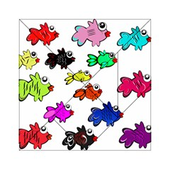 Fishes Marine Life Swimming Water Acrylic Tangram Puzzle (6  x 6 )