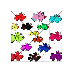 Fishes Marine Life Swimming Water Acrylic Tangram Puzzle (4  x 4 )