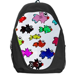 Fishes Marine Life Swimming Water Backpack Bag