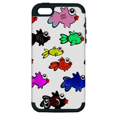 Fishes Marine Life Swimming Water Apple iPhone 5 Hardshell Case (PC+Silicone)