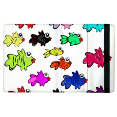 Fishes Marine Life Swimming Water Apple iPad 3/4 Flip Case