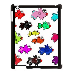Fishes Marine Life Swimming Water Apple iPad 3/4 Case (Black)