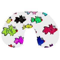 Fishes Marine Life Swimming Water Travel Neck Pillows