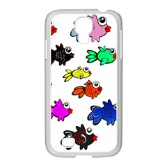 Fishes Marine Life Swimming Water Samsung GALAXY S4 I9500/ I9505 Case (White)