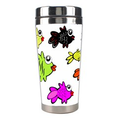 Fishes Marine Life Swimming Water Stainless Steel Travel Tumblers