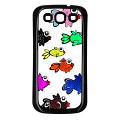 Fishes Marine Life Swimming Water Samsung Galaxy S3 Back Case (Black)