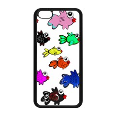 Fishes Marine Life Swimming Water Apple iPhone 5C Seamless Case (Black)