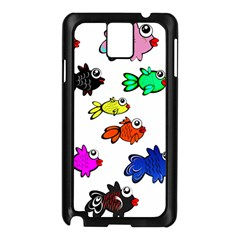 Fishes Marine Life Swimming Water Samsung Galaxy Note 3 N9005 Case (Black)
