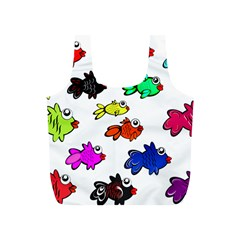 Fishes Marine Life Swimming Water Full Print Recycle Bags (S)