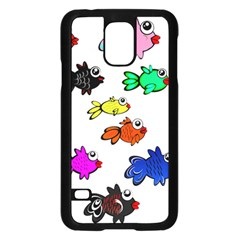 Fishes Marine Life Swimming Water Samsung Galaxy S5 Case (Black)