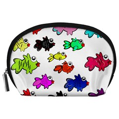 Fishes Marine Life Swimming Water Accessory Pouches (Large)